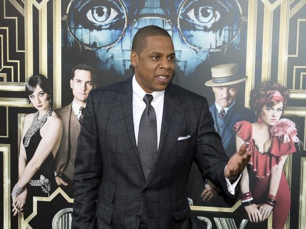 Jay-Z em première de filme em Nova York, nos Estados Unidos (Foto: Don Emmert/ AFP)