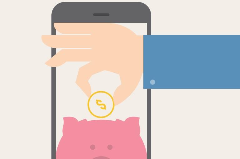 Usuário junta dinheiro com o PiggyPeg e, depois, transfere para sua conta (Foto: Divulgação)