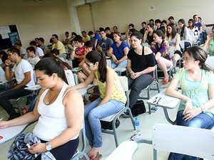 Candidatos a cursos da PUC-Campinas fazem prova do vestibular 2013 (Foto: Divulgação/PUC-Campinas)