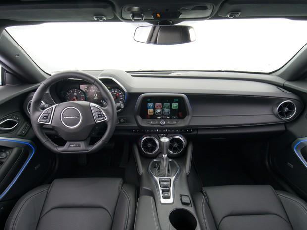 Interior do Chevrolet Camaro (Foto: Divulgação)