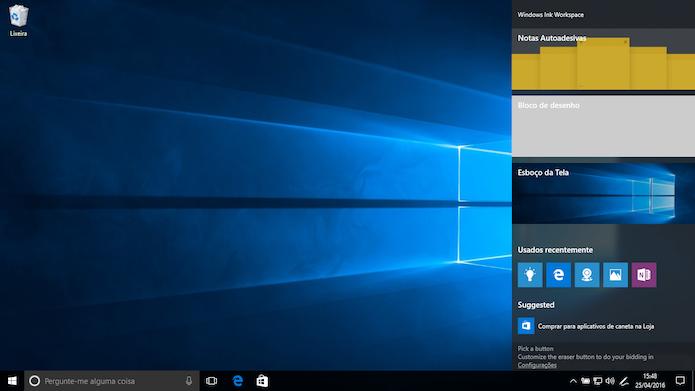 Windows Ink permite criar anotações rápidas de várias formas (Foto: Reprodução/Helito Bijora)