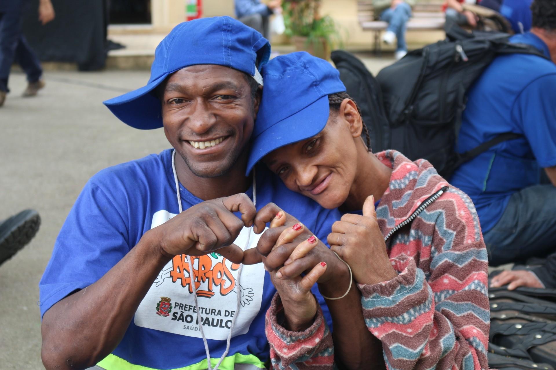 Beneficiários do programa 'De Braços Abertos' (Foto: Adesaf)