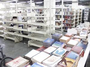 Livros estão sendo catalogados novamente (Foto: Daniel Marcus/Ascom Nova Friburgo)