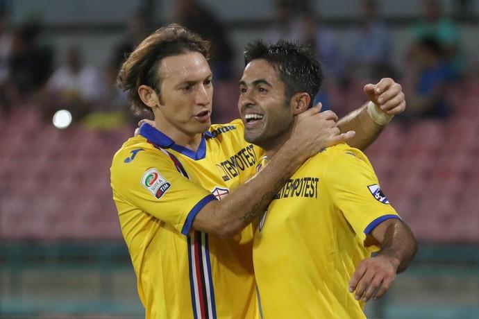 Éder comemora gol Sampdoria (Foto: EFE/EPA/CESARE ABBATE)