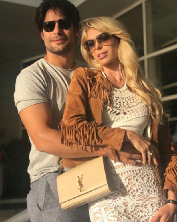 Caroline Bittencourt e Jorge Sestini (Foto: Reprodução)