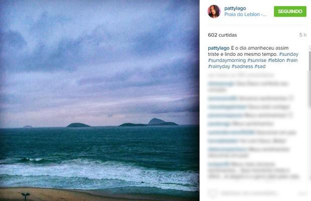 Post de Patty Lago sobre o dia da morte da sua mãe, Betty Lago (Foto: Instagram / Reprodução)