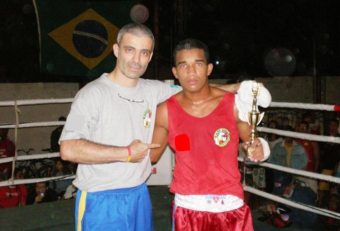 Raff Giglio e Esquiva Falcão boxe (Foto: Arquivo pessoal)