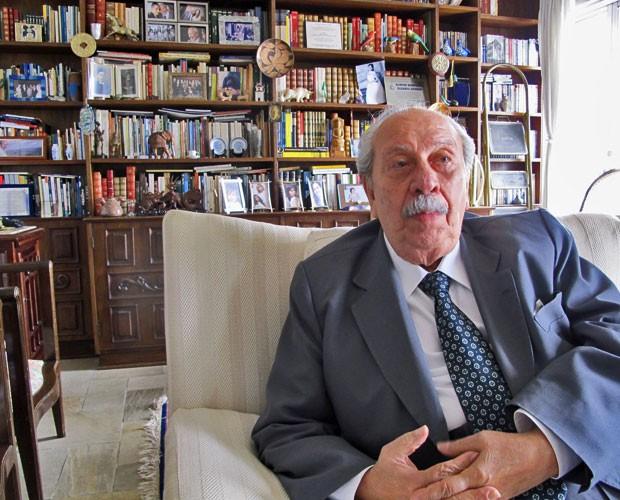 Almino Affonso, 85, foi ministro do Trabalho e da Previdência Social de João Goulart e estava na sessão do Congresso que declarou vaga a Presidência em 2 de abril de 1964. (Foto: Rosanne D'Agostino/G1)