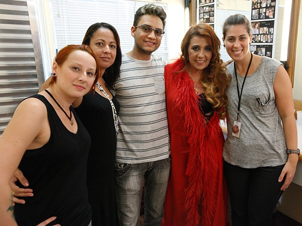 Ela fez a alegria da equipe nos bastidores também (Foto: Raphael Dias / TV Globo)