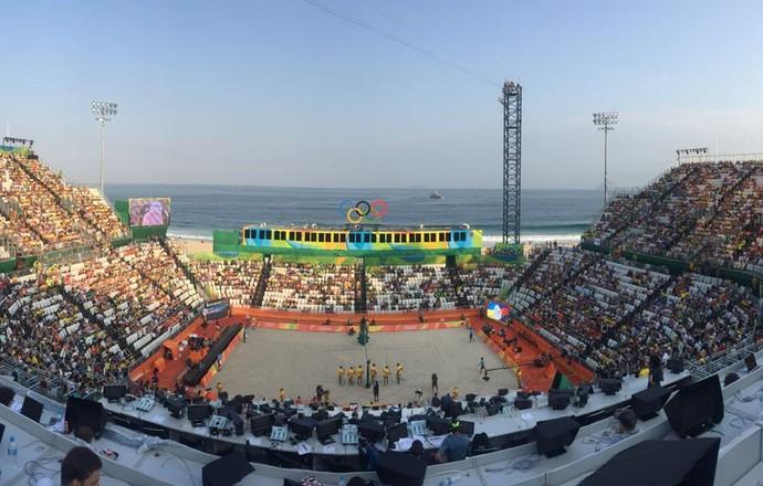 arena, vôlei de praia, rio 2016 (Foto: Gabriel Frieck)