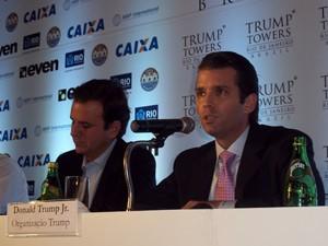O prefeito Eduardo Paes e Donald Trump Jr. (Foto: Lilian Quaino/G1)