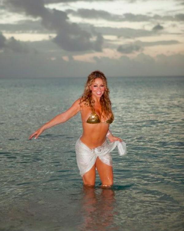 A foto de Mariah Carey questionada pelos fãs (Foto: Instagram)