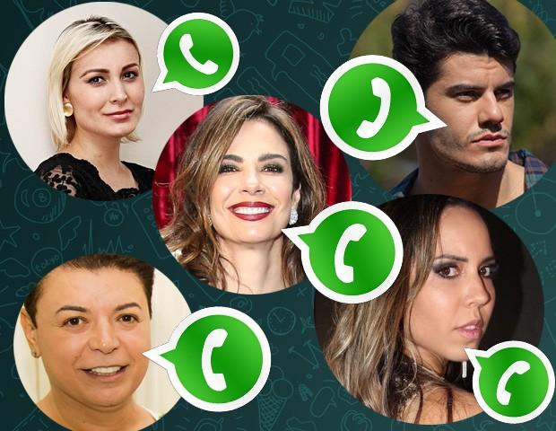 Famosos reclamam de bloqueio do WhatsApp (Foto: EGO)