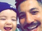 Filho do ex-BBB Fernando Medeiros rouba a cena em foto postada na web