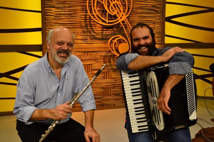 Pedrinho Figueiredo e Samuca do Acordeon (Foto: Divulgação/RBS TV)
