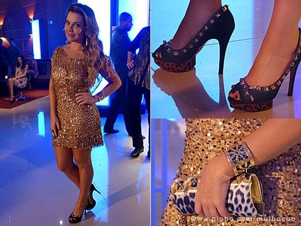 Bernadete usa muito brilho, saltos altíssimos e estampas (Foto: Malhação / TV Globo)