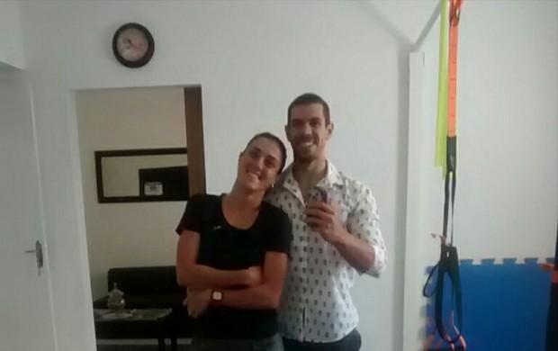 Carol Furriela e o marido Guilherme Vilas Boas