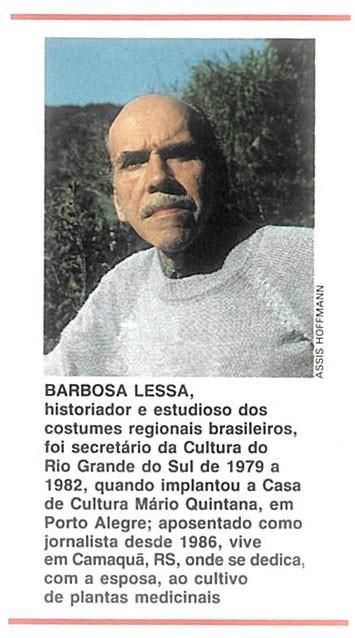barbosa-lessa-cronica (Foto: Editora Globo)