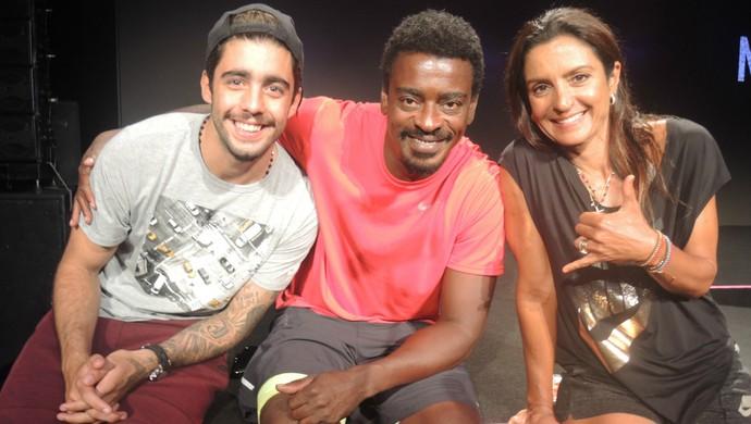 Seu Jorge, Scooby e Fernanda Keller euatleta (Foto: Igor Christ)