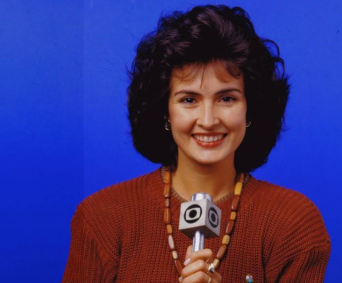 Fátima com visual diferente e cabelos volumosos (Foto: CEDOC/TV Globo)