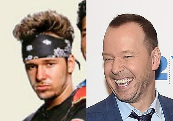 DONNIE WAHLBERG nos anos 1980 e em 2017 (Foto: Reprodução e Getty Images)