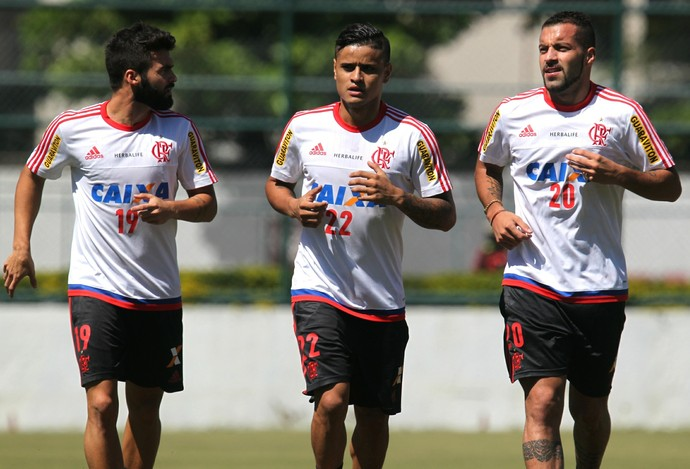 Arthur Maia, Canteros e Everton, Flamengo (Foto: Gilvan de Souza/Fla Imagem)