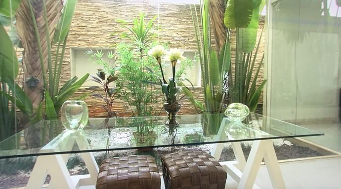 Muito verde: plantas decoram o lar de Belo e Gracy (Foto: TV Globo)