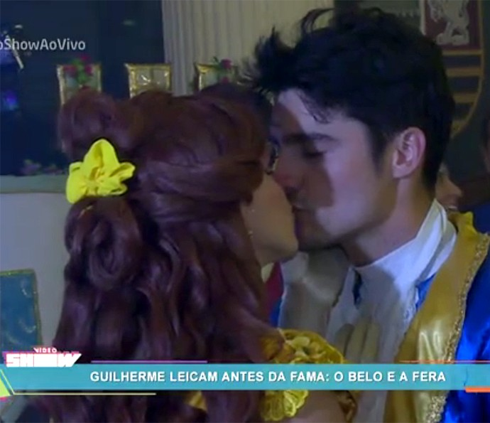 Em cena, Guilherme Leicam é príncipe do clássico infantil (Foto: Vídeo Show / Gshow)
