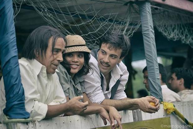 Damian Alcazar,  Aparecida Petrowky e  Joaquin Serrano em Mangoré - por amor al arte (Foto: Marcos Bogarin/Divulgação Mangoré por amor al arte)