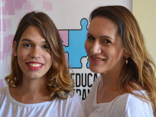 Giovana Soares e Linda Brasil em mais um dia de estudos (Foto: Tássio Andrade/G1)