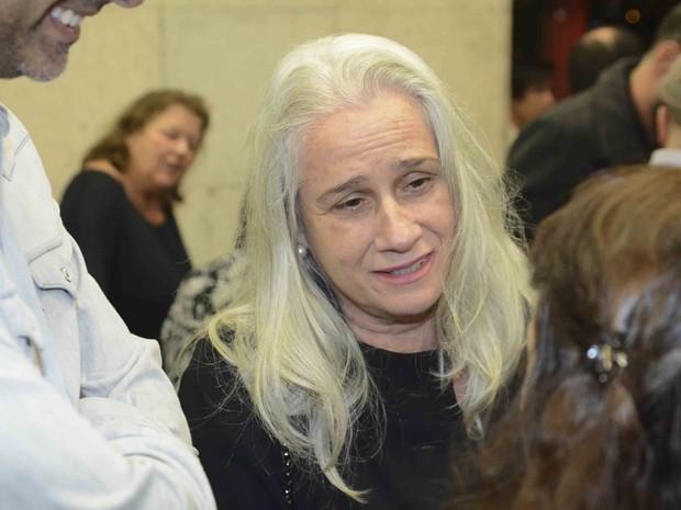 Vera Holtz no velório de Antônio Abujamra em São Paulo (Foto: Leo Franco e Francisco Cepeda/ Ag. News)