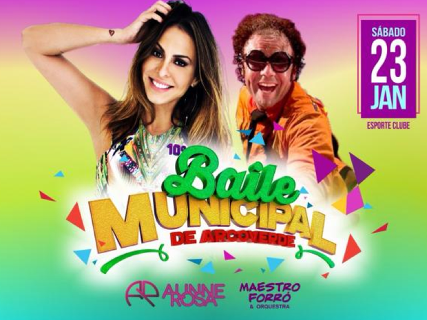 Baile Municipal de Arcoverde será realizado em 23 de janeiro (Foto: Divulgação/Ascom Arcoverde)