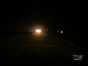 O problema na rodovia são alguns postes que, apesar de instalados, não funcionam (Foto: Reprodução/TV Mirante)