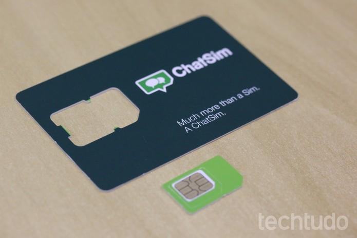 ChatSim tem formato All-In-One e se adapta a todos os modelos de celulares (Foto: Ana Marques/TechTudo)