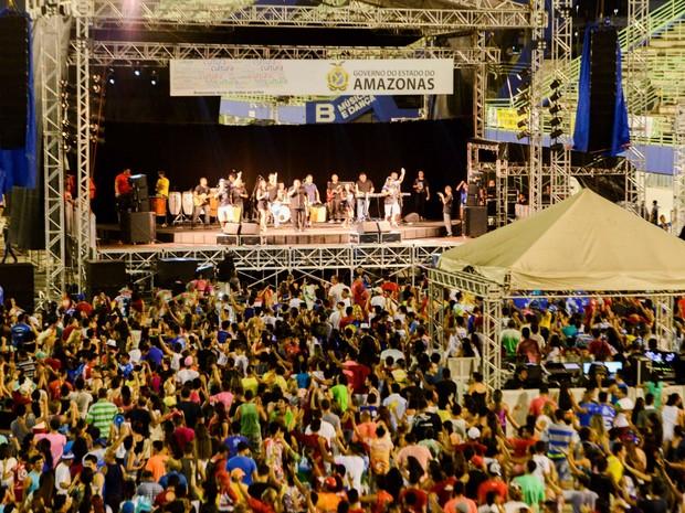 O evento, que mistura Carnaval e Boi-Bumbá, aconteceu no Centro de Convenções (Foto: Valdo Leão/Semcom)