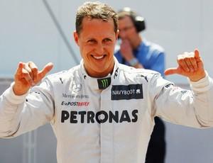 Schumacher foi o mais rápido no treino de Mônaco (Foto: Getty Images)