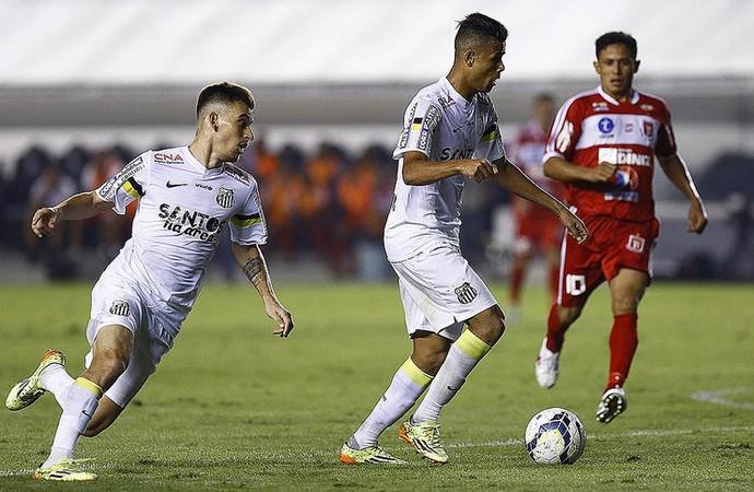 lucas lima geuvanio santos (Foto: Ricardo Saibun/Divulgação Santos FC)