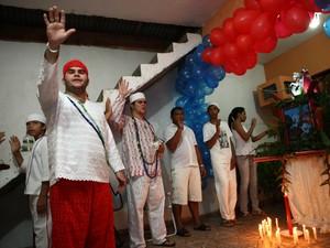 Umbandistas também celebram São Jorge ou Ogum, em Ananindeua (Foto: Cristino Martins / O Liberal)