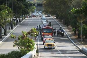 Cortejo Cléber Santana Velório Ilha do Retiro (Foto: Aldo Carneiro / Pernambuco Press)