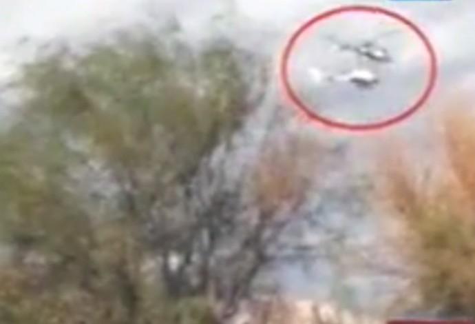 acidente Camille Muffat helicoptero (Foto: Reprodução)