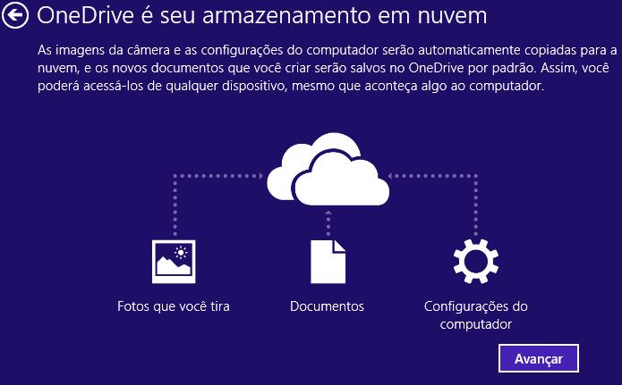 Ativando o OneDrive (Foto: Reprodução/Helito Bijora)