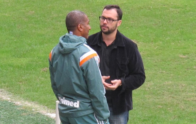 Cristóvão Borges e Mário Bittencourt fluminense (Foto: Richard Souza)