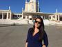 Thais Fersoza exibe barrigão de grávida em Fátima, Portugal