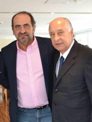 Daniel Nepomuceno e Alexandre Kalil visitam José Maria Marin e Marco Polo Del Nero na CBF (Foto: CBF)