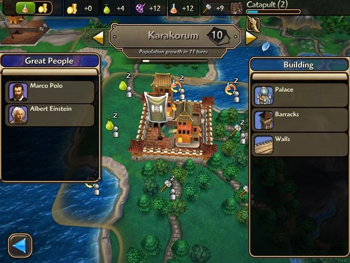 O jogador também poderá consultar os edifícios e monumentos construídos na cidade e as grandes personalidades residentes (Foto: Reprodução/Daniel Ribeiro)