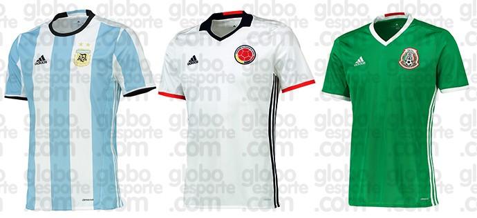 BLOG: Veja as camisas de Argentina, Colômbia, México e EUA para a Copa América