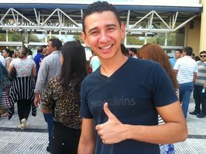 Christian Brandão disse está confiante na aprovação no Exame (Foto: Isis Capristrano/G1 AM)