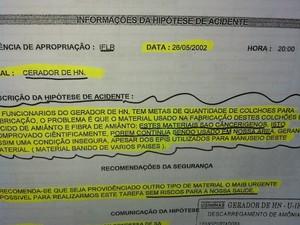Provas foram juntadas por ex-funcionários para constar no processo trabalhista.  (Foto: Patrícia Belo / G1)