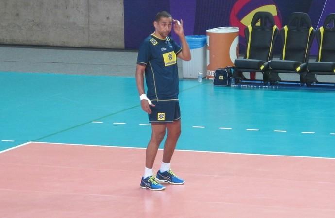 Treino seleção brasileira vôlei maceió sul-americano - serginho (Foto: Marcello Pires)
