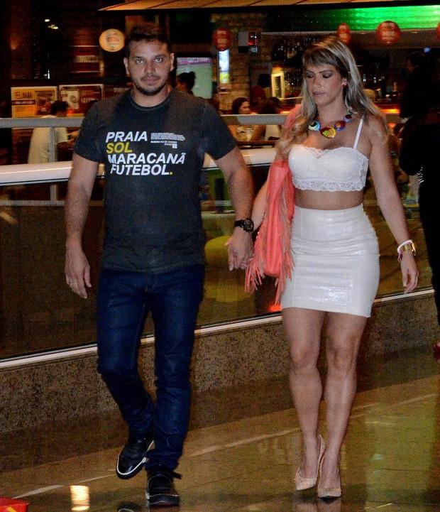 Fani e Leandro (Foto: William Oda/AgNews)
